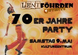 Flyer 70er-Jahre-Party 2015 A5 vorne