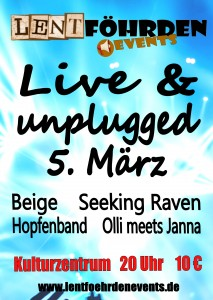 Unplugged-Abend Plakat A1